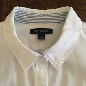 Lands' End Fitted Oxford Shirt Size 14